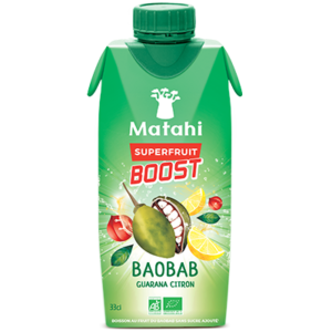 Baobab, Guarana & Lemon 330ml - Matahi