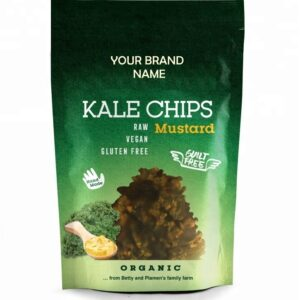 Kale Crisps with Mustard Onion