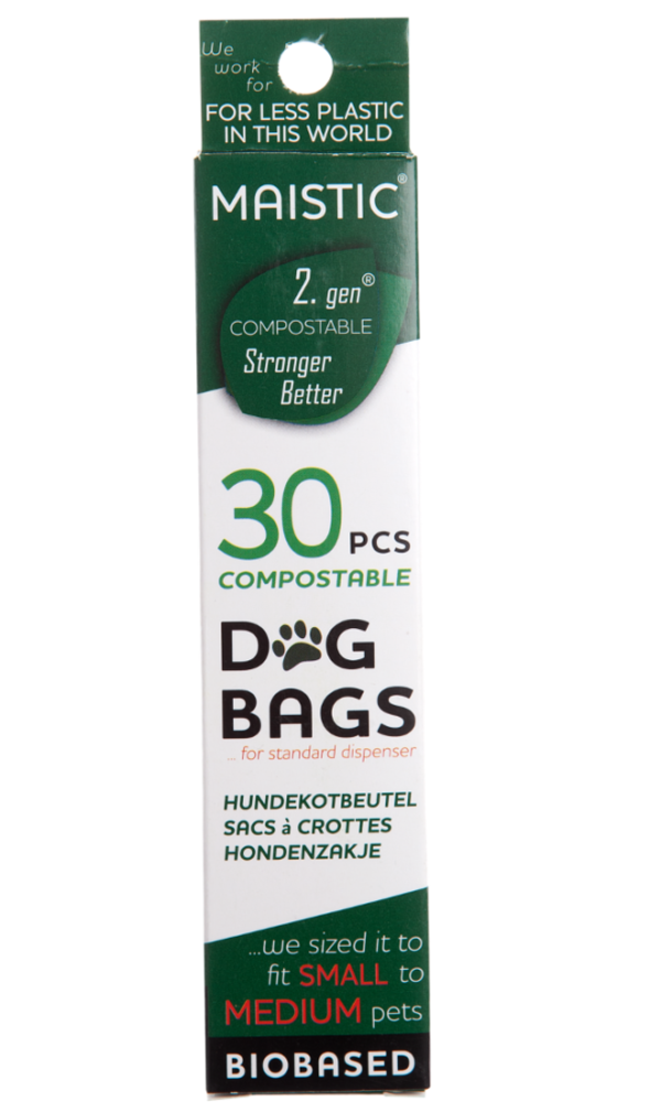 MAISTIC COMPOSTABLE DOG BAG'S - 30pcs