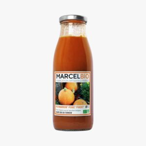 Marcel Bio red kuri squash pear and chili soup