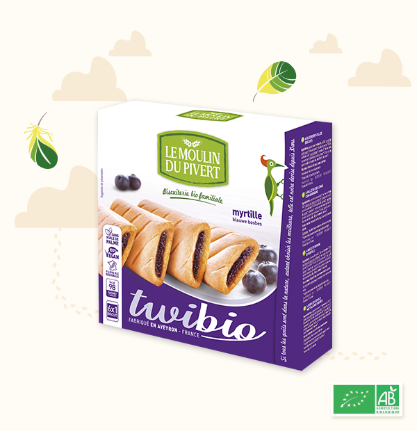 Organic biscuits filled with Blueberry Pk6