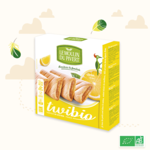 Organic biscuits filled with Lemon Pk6