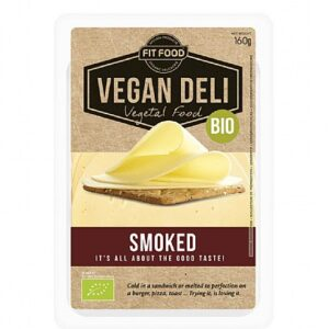 Organic cheese slices smoked