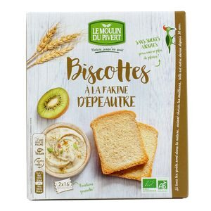 Organic dry biscotte with Spelt flour 270g