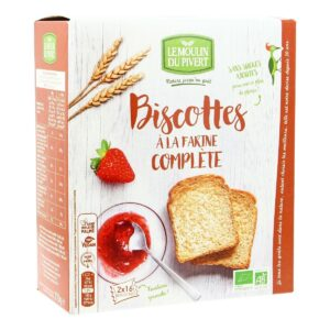 Organic dry biscotte with Wholemeal wheat flour 270g