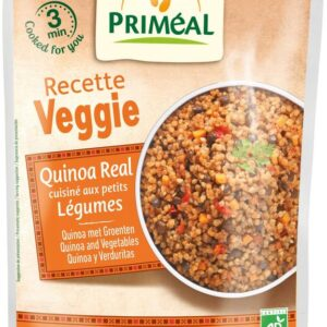 Pre cooked organic quinoa with vegetables
