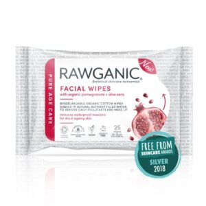 Rawganic Anti Aging Facial Wipes Pk25