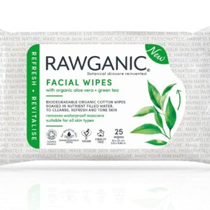 Rawganic Facial Wipes Pk25