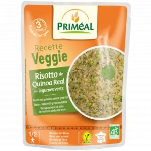 Royal quinoa Risotto with green organic vegetables