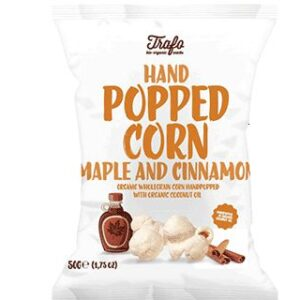 Trafo Organic Hand Popped Corn Maple Cinnamon