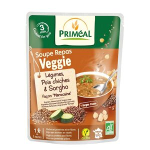 Vegetables Chickpeas Sorghun morrocan style soup 250 ml Primeal