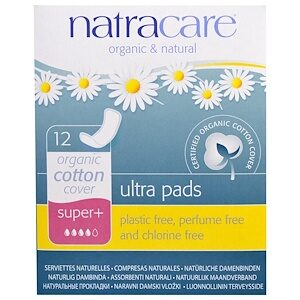 Natracare Sanitary Towels Super+ (Pk12)