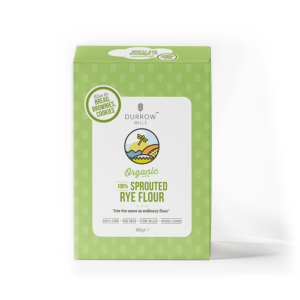 Organic Sprouted Rye Flour (750g) - Durrow Mills