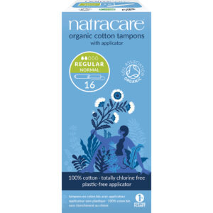 Cotton Tampons with Applicator Regular (Pk16) - Natracare