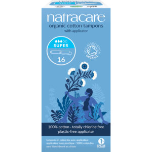 Cotton Tampons with Applicator Super (Pk16) - Natracare