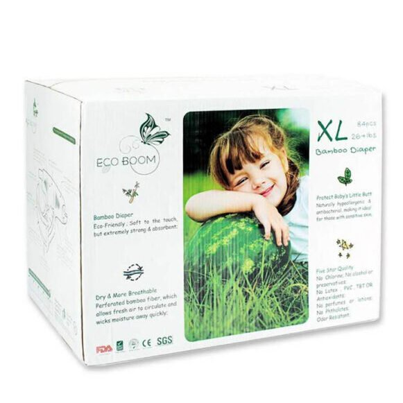 Bamboo Diapers XL 12kg+ (Pk84) - Eco Boom